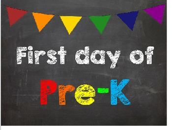 First & Last Day of School Bundle with Pre-K Diploma - MEG