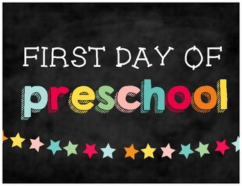 First & Last Day of School Chalkboard Signs