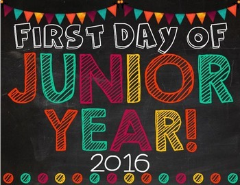 First & Last Day of School Posters: Oranges & Reds (EDITABLE)