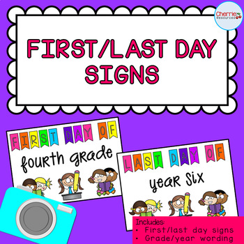 First/Last Day of School Signs