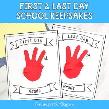First & Last Day of School Signs - Cutout Hand Craft