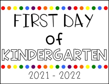 First & Last Day of School Signs FREEBIE