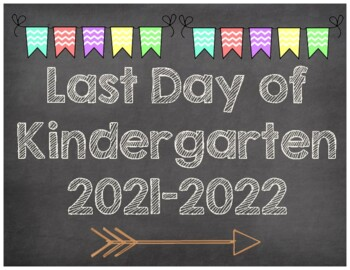 First & Last Day of School Signs {K-2nd Grade} 2017-2018