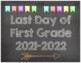 First & Last Day of School Signs {K-2nd Grade}