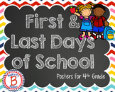 First & Last Days for Fourth Grade