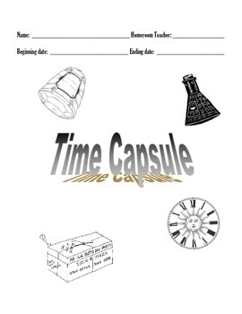 First & Last Days of School Time Capsule