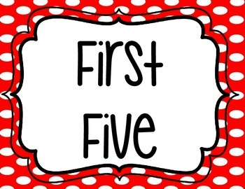 First & Last Five - Ladybug Themed