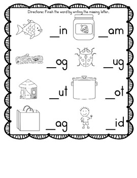 First Letter Challenge (First Sound Fluency Practice)