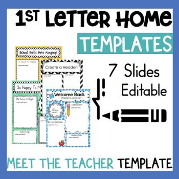 Teacher Letter Home