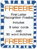 First Letter Recognition Game! FREEBIE