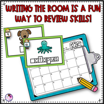 Beginning Sounds Write the Room Activity