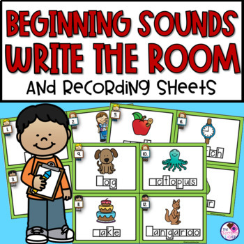 First Letter/Sound Write the Room