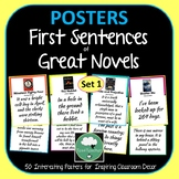 First Line Opening Sentence Posters Great First Lines from Novels and Classics
