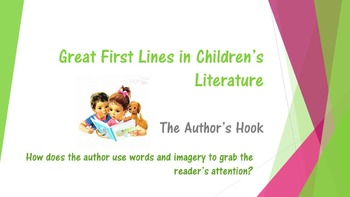BEST Opening Lines in Children's Books!  Engaging Readers