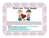 First Love, First Sounds     Sorting b-d  w-y  g-j  sh-ch