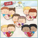 First Love Kids Clip Art - Valentine's Day Clip Art - CU C
