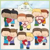 First Love Kids Clip Art 2 - Valentine's Day Clip Art - CU