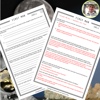 First Man Movie Guide + Activities - Answer Keys Included