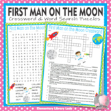 First Man on the Moon Crossword Puzzle and Word Search Find Activities