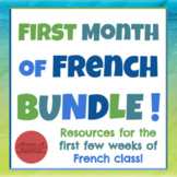 First Month of French BUNDLE