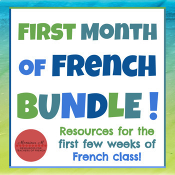 First Month of French BUNDLE!