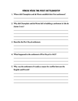 First NAtions and European Explorers Chapter 4