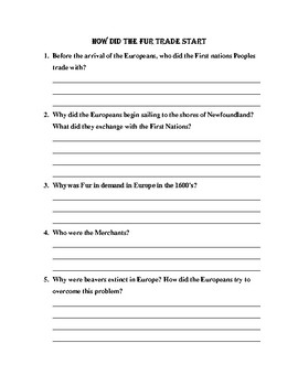 First NAtions and European Explorers Chapter 3 resource