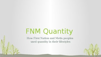 First Nation and Metis Quantity