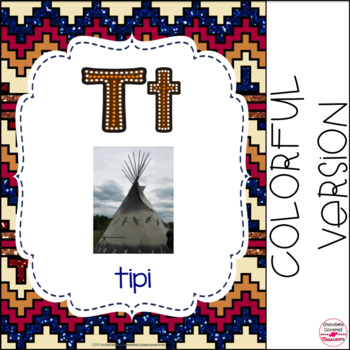 First Nations, Métis and Inuit (Native American) Alphabet Cards FRENCH VERSION