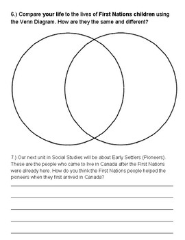 First Nations Review, Quiz, and Project Instruction Sheet