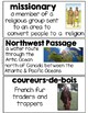 First Nations and Europeans in New France and Early  Canada Word Wall