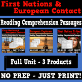 First Nations and Europeans Reading Comprehension Bundle