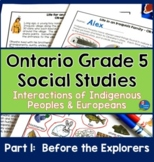 Ontario Gr. 5 Social Studies, Strand A Heritage and  Ident