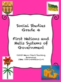 First Nations and Metis Governments - Grade 4 Social Studies