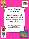 First Nations and Metis Relationship With the Land - Grade 4 Social Studies