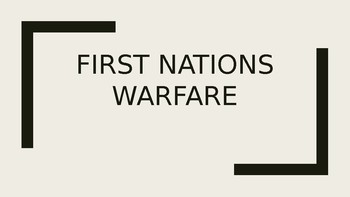 First Nations and Warfare