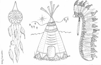 First Nations/Native Americans colouring sheet