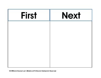 First-Next Board for Transitions (Autism & Special Education)