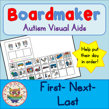First, Next, Last Board and Cards - Boardmaker Visual Aids for Autism SPED