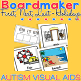 First, Next, Last - School Holidays - Boardmaker Visual Aids for Autism SPED