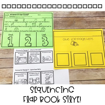 Story Retelling and Sequencing | First, Next, Last | St. Patrick's Day FlapBooks