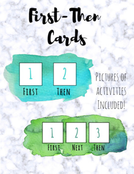 First-Then Cards and Pictures