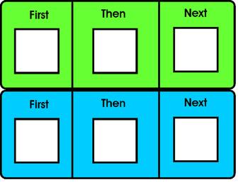 First-Then-Next Schedule Boards