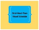 First-Next-Then Visual Schedule