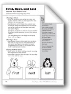 First, Next, and Last (Book Report Form)