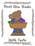First Nine Weeks Math Tests
