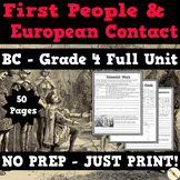 First People and European Contact Full Unit - BC Grade 4 Social Studies