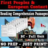 First People and European Contact - Reading Passages - BC Unit