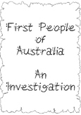 First People of Australia - Investigation Project Booklet