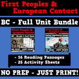 First Peoples and European Contact - BC Grade 4 Reading & Activity Sheets Bundle